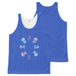 Regata Com Estampa Completa Camisola de alças unisex das medusa