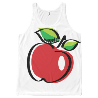 Regata Com Estampa Completa Camisola de alças unisex de Apple Swoozle