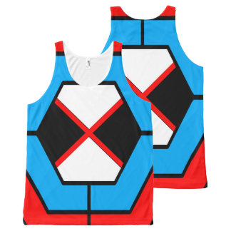 Regata Com Estampa Completa Camisola de alças unisex geométrica abstrata