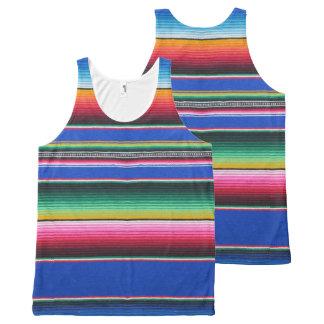 Regata Com Estampa Completa Camisola de alças, unisex, impressão do serape,
