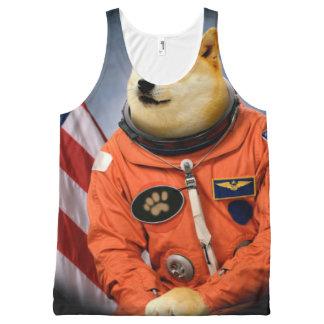Regata Com Estampa Completa cão do astronauta - doge - shibe - memes do doge