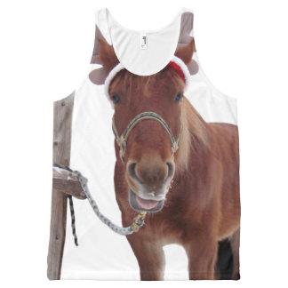 Regata Com Estampa Completa Cervos do cavalo - cavalo do Natal - cavalo