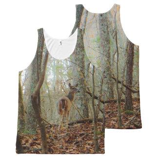 Regata Com Estampa Completa Cervos na madeira. Camuflagem de Camo