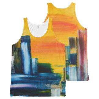 Regata Com Estampa Completa Cidade abstrata colorida