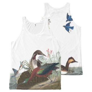 Regata Com Estampa Completa Colagem de Audubon da camisola de alças dos