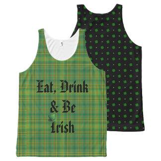 Regata Com Estampa Completa Coma, bebida & seja irlandês