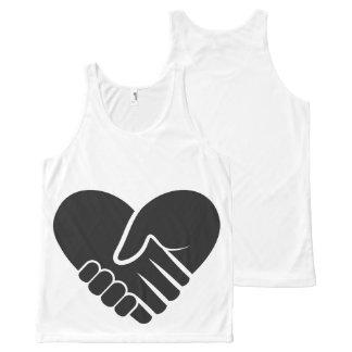 Regata Com Estampa Completa Coração preto conectado amor