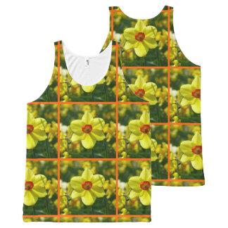 Regata Com Estampa Completa Daffodils amarelos alaranjado 02.2o