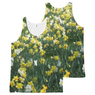 Regata Com Estampa Completa Daffodils por todo o lado na parte superior unisex