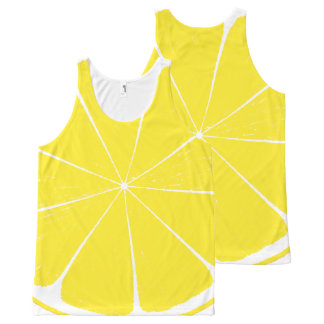 Regata Com Estampa Completa Design amarelo brilhante da fatia dos citrinos do