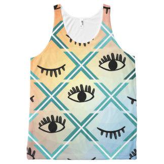 Regata Com Estampa Completa Design colorido original dos olhos