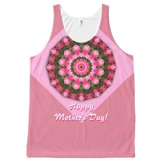 Regata Com Estampa Completa Dia das mães feliz! Rosas vermelhas 01,2, mandala