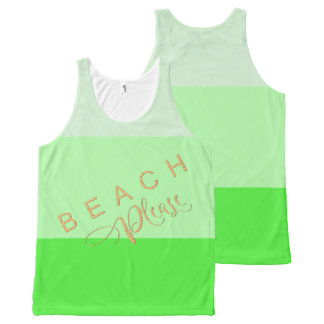 Regata Com Estampa Completa Do verde limão das listras da praia brilho do ouro