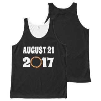 Regata Com Estampa Completa Eclipse solar 21 de agosto de 2017 total
