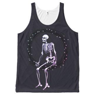 Regata Com Estampa Completa Esqueleto do divertimento