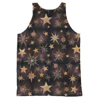 Regata Com Estampa Completa Estrelas de Steampunk
