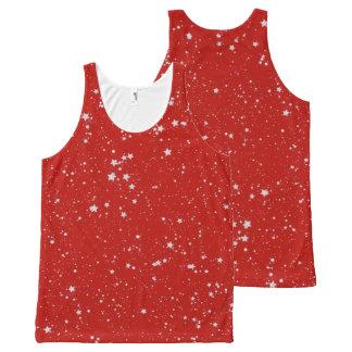 Regata Com Estampa Completa Estrelas do brilho - vermelho de prata