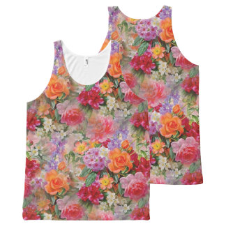 Regata Com Estampa Completa Flores coloridas do primavera