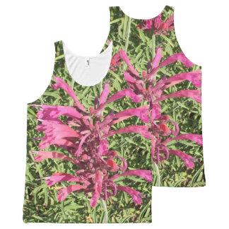 Regata Com Estampa Completa Flores cor-de-rosa bonito