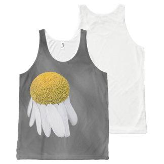 Regata Com Estampa Completa Fotografia da flor da margarida