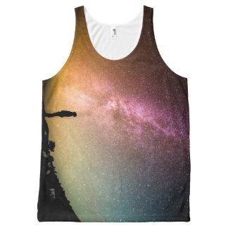 Regata Com Estampa Completa Galáxia Sparkling do arco-íris das estrelas