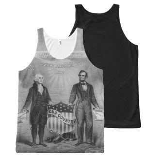 Regata Com Estampa Completa George Washington Abraham Lincoln EUA patrióticos