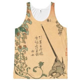 Regata Com Estampa Completa Glicínias do vintage de Hokusai e Wagtail