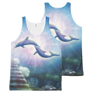 Regata Com Estampa Completa Golfinhos de H019 Nori