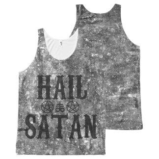Regata Com Estampa Completa Hail Satanás - Pentagram Satanic 666 depósito top
