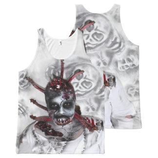 Regata Com Estampa Completa halloween zombie shirt