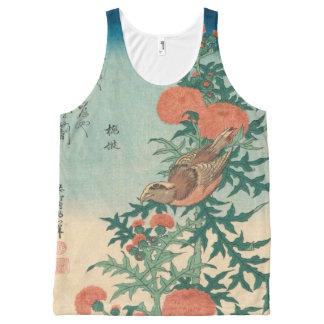 Regata Com Estampa Completa Hokusai Shrike e arte abençoada de GalleryHD do