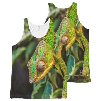 Regata Com Estampa Completa Impressão da fotografia da iguana do lagarto verde