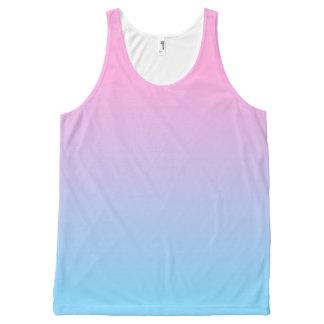 Regata Com Estampa Completa Inclinação rosa pálido e azul Pastel