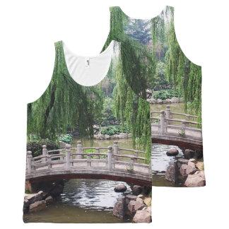 Regata Com Estampa Completa Jardim asiático 1