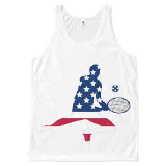 Regata Com Estampa Completa Jogador do americano do tênis dos EUA