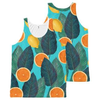 Regata Com Estampa Completa limões e cerceta das laranjas