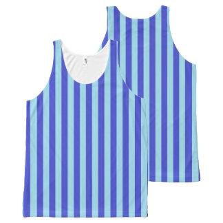 Regata Com Estampa Completa Listras azuis azuis e Pastel verticais