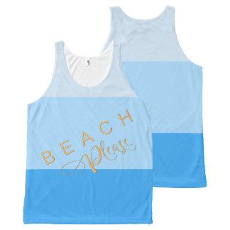 Regata Com Estampa Completa Listras azuis da piscina legal - da praia brilho
