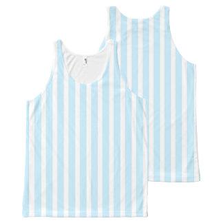 Regata Com Estampa Completa Listras azuis e brancas Pastel verticais
