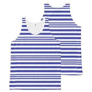 Regata Com Estampa Completa Listras azuis e brancas X 3