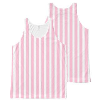 Regata Com Estampa Completa Listras cor-de-rosa e brancas macias verticais