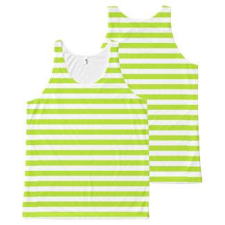 Regata Com Estampa Completa Listras do verde limão e do branco