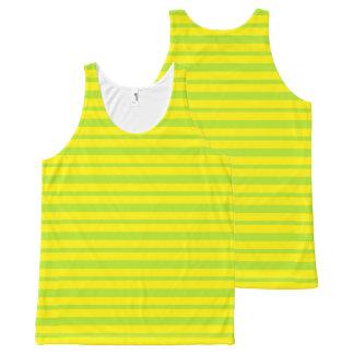 Regata Com Estampa Completa Listras grossas e finas do verde limão e do