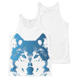 Regata Com Estampa Completa Lobo do azul de gelo da ilustração
