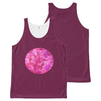 Regata Com Estampa Completa Lua cor-de-rosa