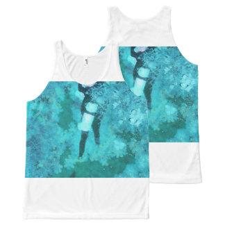 Regata Com Estampa Completa Mergulhador e bolhas de mergulhador