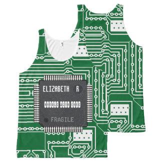 Regata Com Estampa Completa Microplaqueta no conselho de circuito impresso com