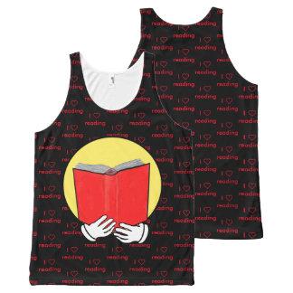Regata Com Estampa Completa Mim leitura do ❤ - emoticon - vermelho & preto