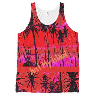 Regata Com Estampa Completa Minha camisola de alças Cerise alaranjada da ilha