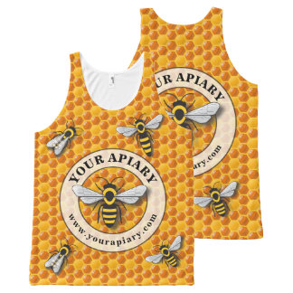 Regata Com Estampa Completa Modelo do promocional do Apiary do apicultor